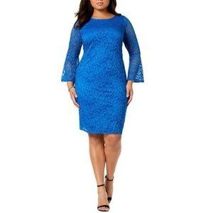 Alfani Plus Bell Sleeve Lace Dress NWT